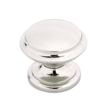Berenson Polished Nickel Round Knob 1 3/8
