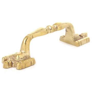 Restorers Wide Foot 2 1/2 Inch Brass Cabinet Pull