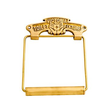S4121 VICTORIAN BRASS TOILET ROLL HOLDER