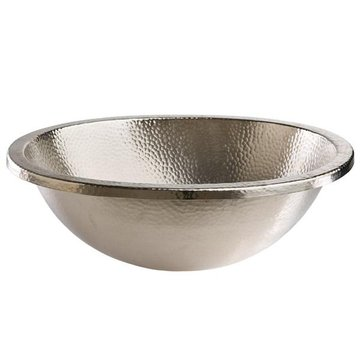 OVAL HAND HAMMERED BRUSHE NICKEL BATH SINK *DS*