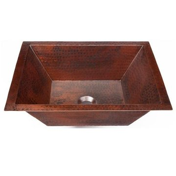 UNDER-MOUNT HANDCRAFTED AGED COPPER BATH SINK*DS*