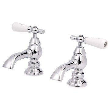 CHROME LAV FAUCET W/HOT & COLD LEVERS