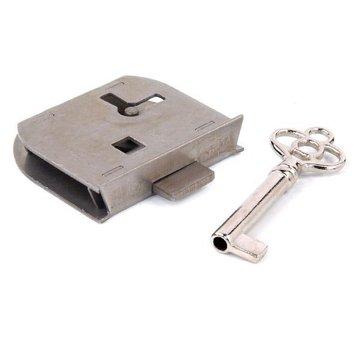Restorers Classic Polished Steel Half Mortise Lock And Key