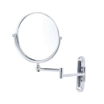 CHROME DBL SIDED WALL MOUNT MIRROR