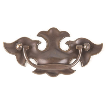 SOLID BRASS CHIPPENDALE PULL-ANTQ BRASS FINISH