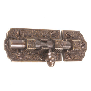 Restorers 4 Inch Victorian Sliding Bolt Latch