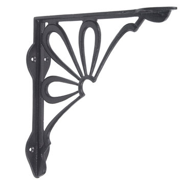IRON SHELF BRACKET - BLACK POWDER COAT FINISH