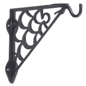 IRON PLANT HANGER - BLACK POWDER COAT