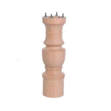 Red Oak 19 1/4 Inch Table Pedestal