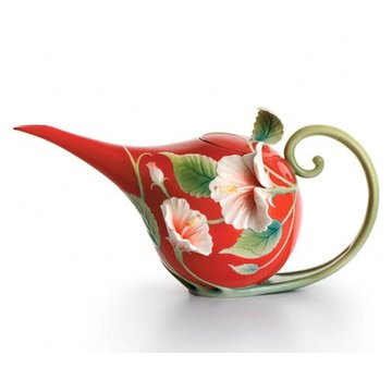 ISLAND BEAUTY HIBISCUS PORCELAIN TEAPOT  *DS*