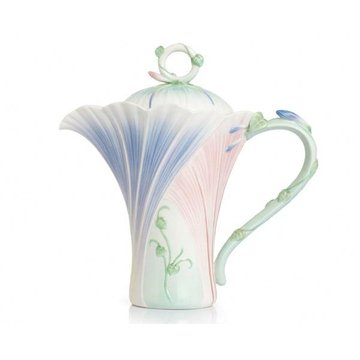 LES JARDIN MORNING GLORY PORCELAIN TEAPOT  *DS*