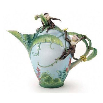 JUNGLE FUN PORCELAIN TEAPOT  *DS*