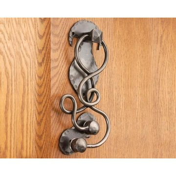 11 NATURAL IRON VINE DOOR KNOCKER