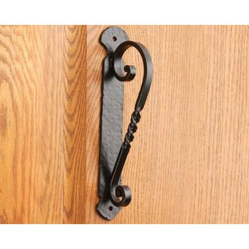 Artesano Iron Works AIW-0006-SB 10 1/8 Inch Matte Black Door Pull
