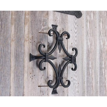 Agave Ironworks Flat Black Ornate Speak Easy Grille