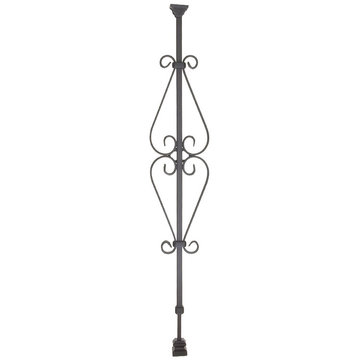 SPADE SCROLL ADJUSTABLE IRON BALUSTER