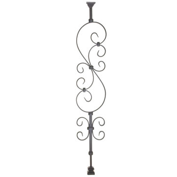 S-SCROLL ADJUSTABLE IRON BALUSTER
