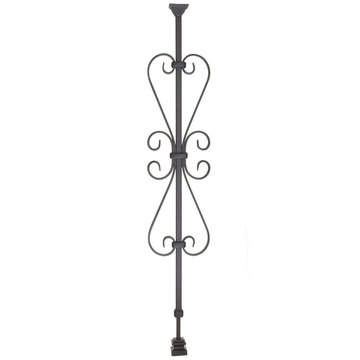 HEART SCROLL ADJUSTABLE IRON BALUSTER