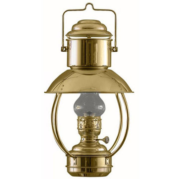 BRASS TRAWLER OIL LAMP