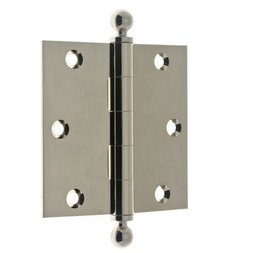 3 1/2 Inch Loose Pin Ball Tip Hinges - Pair