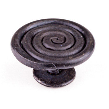 Artesano Iron Works AIW-2020-SB Swirled Matte Black Screw-In Knob