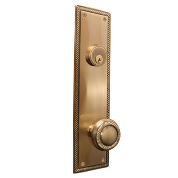 Brass Accents Single Deadbolt Academy Entry Set