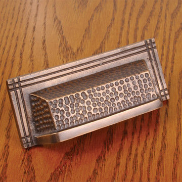 Arts and Crafts Rectangular Bin Pull