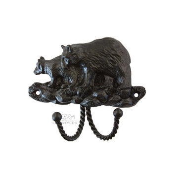 Sierra Lifestyles Black Bear Decorative Hook