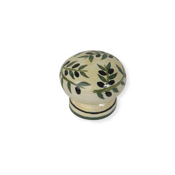 Atlas Homewares Ceramic Firenze Olive Knob