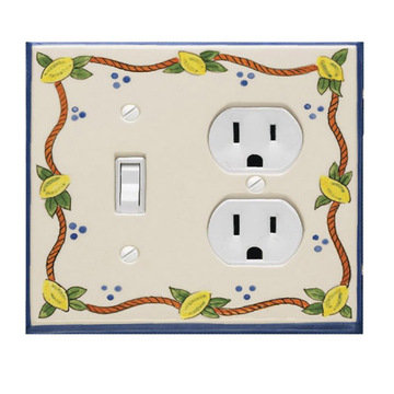 Atlas Homewares Elba Lemon Ceramic Switchplate