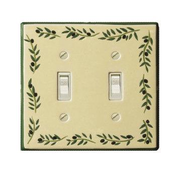Atlas Homewares Firenze Olive Ceramic Switchplate