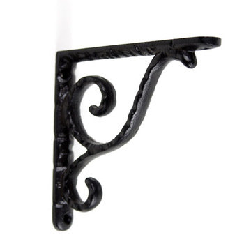 Scroll Shelf Brackets - Pair