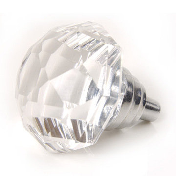 Half Moon Faceted Glass Knob