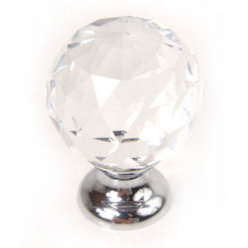 Large Faceted Glass Knob