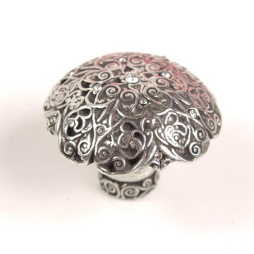Carpe Diem Monticello Round Knob With Swarovski Crystals