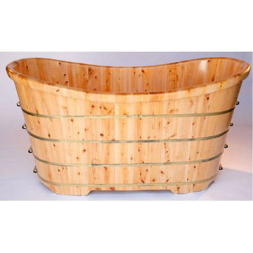 63 Free Standing Cedar Wood Bath Tub
