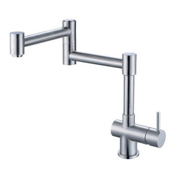 Solid Stainless Steel Retractable Single Hole Kitchen Faucet