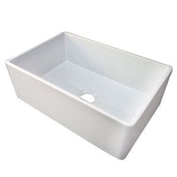 30 Contemporary Smooth Fireclay Farmhouse Kitchen Sink