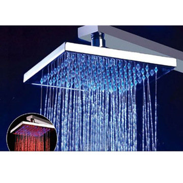 8 Square Multi Color Led Rain Shower Head