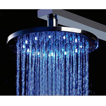8 Round Multi Color Led Rain Shower Head