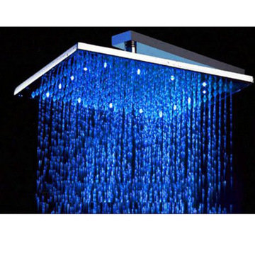 10 Square Multi Color Led Rain Shower Head