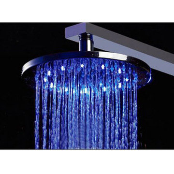 10 Round Multi Color Led Rain Shower Head