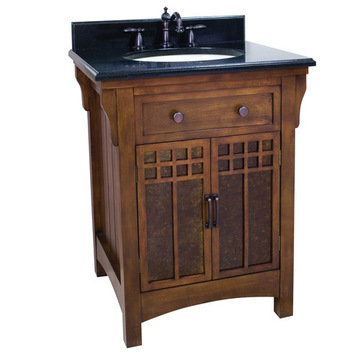 Lyn Designs Wescott Wright Vanity With Mica Glass