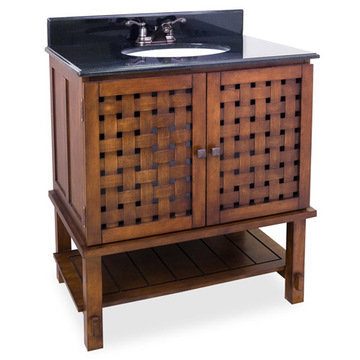 Bath Elements Lyn Basketweave Vanity