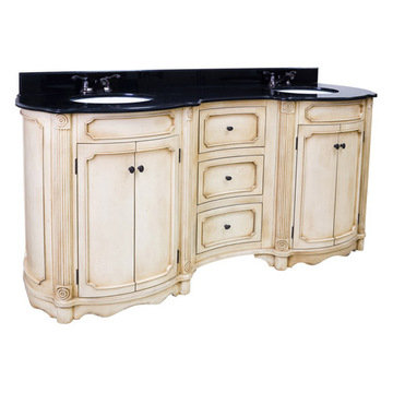 Bath Elements 72 Tesla Double Vanity