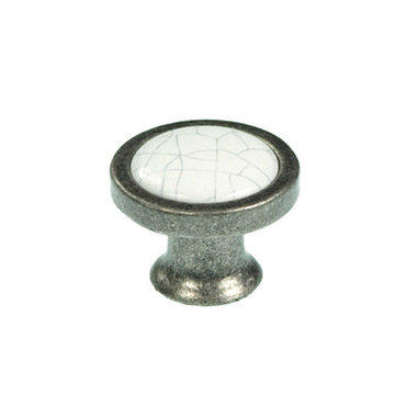 Belwith Keeler Crackle Knob With Pewter Base
