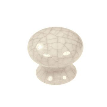Belwith Keeler Crackle Round Porcelain Knob
