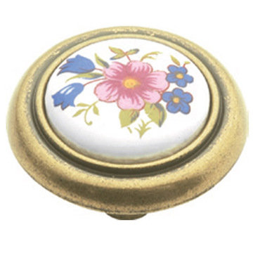 Hickory Hardware English Cozy Knob With Bouquet Insert