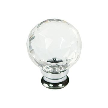 Belwith Keeler Luster Glass Faceted Knob
