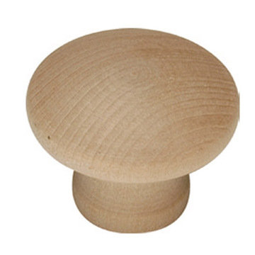 Belwith Keeler Natural Woodcraft Mushroom Knob - Pair